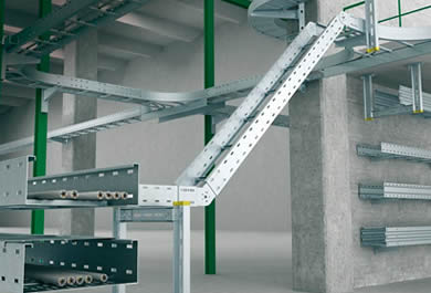 Steel large span ladder type cable tray used in industry plant construction withstand heavy loading capacity of cables