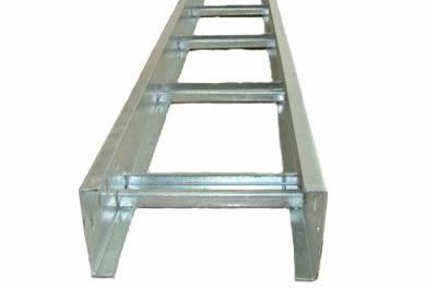 A hot-dipped galvanized ladder cable tray with C channels and 300mm rung spacing
